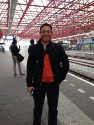 At the Zaandam railway station in the Netherlands in April 2014